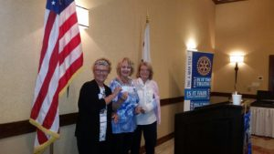 This morning Lake Arrowhead Sunrise Rotary awarded a check for $1000 to the Rim of the World Educational Foundation.