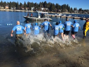 2016 Polar Bear Plunge was just one of the annual fundraisers; participating was Rim Educ. President, Jo Bonita Rains, as well as Rim District leadership.