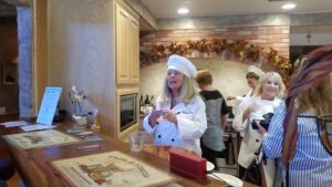 Arleen Tymczyszyn discussing the delicious recipes