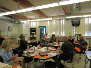 Rim Educ. Board sharing lunch with ROP teachers